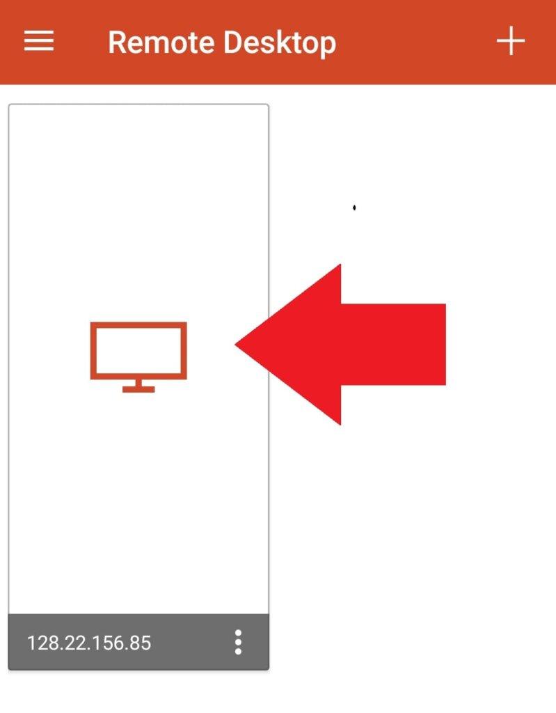マイクロソフトリモートデスクトップ(スマホ・タブレットから接続)VPSが表示された画面